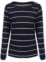 Slimming Long Sleeve Striped T-Shirt