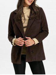 Back Slit Pea Coat -