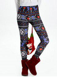 Christmas High Waisted Flocking Leggings