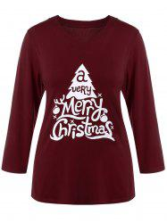Plus Size Christmas Print T-Shirt