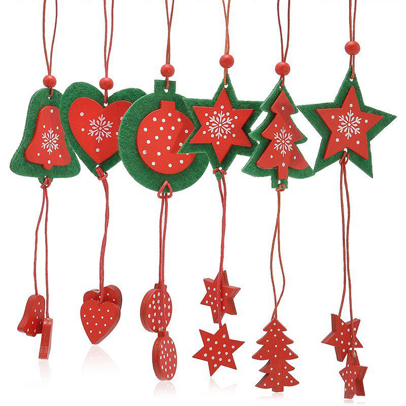 12PCS Christmas Tree Supplies Decoration Snowflake Hanging PendantsHOME<br><br>Color: RED; Event &amp; Party Item Type: Party Decoration; Occasion: Christmas,Party; Weight: 0.050kg; Package Contents: 1 x Decoration (Suit);