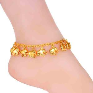 Cute Solid Color Elephant Anklet для женщин -