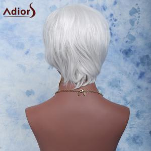 Adiors Shaggy Wavy Short Color Mixed Full Bang Synthetic Wig - COLORMIX
