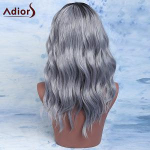 Adiors Mixed Color Synthetic Fluffy Medium Wave Centre Parting Wig -