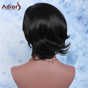 Adiors Short Fluffy Slightly Curled Side Parting Synthetic Wig -