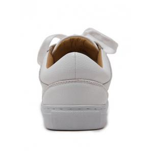 Leisure Tie Up and White Design Athletic Shoes For Women -