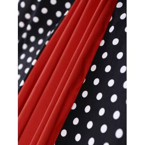 Polka Dot Panel Vintage Dress - RED XL