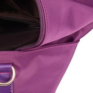 Studded Nylon Casual Backpack - PURPLE