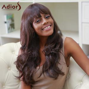 Adiors Full Bang Color Mixed Long Fluffy Wavy Synthetic Wig -