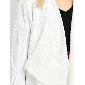 Basket Weave Cable Knit Cardigan -