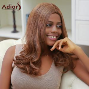 Adiors Long Middle Part Slightly Curled Synthetic Capless Wig -