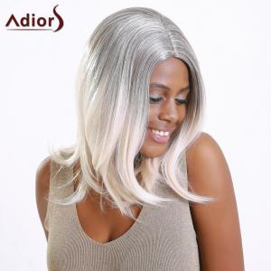 Adiors Long Fluffy Slightly Curled Colormix Synthetic Wig -