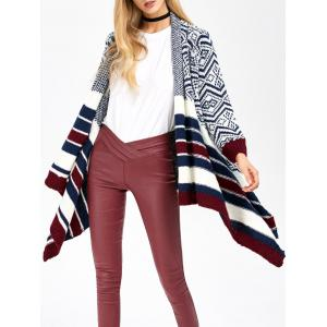 Striped Trim Knit Cardigan