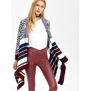 Striped Trim Knit Cardigan -