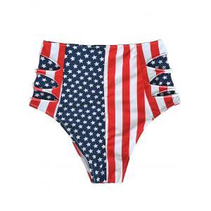 Flag Distressed Vintage Cheeky High Waisted Bikini Shorts