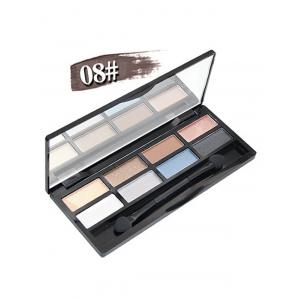 8 Colours Shimmer Matte Eyeshadow Kit - #08