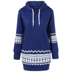 Pullover Hoodie With Patterned