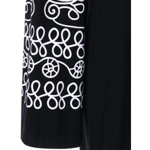 Plus Size Printed Longline Tee - BLACK XL