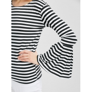 Bell Sleeve Striped Tee -
