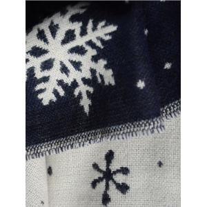 Christmas Snow Covered Landscape Tassel Warm Scarf -
