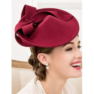 Formal Party Bowknot Felt Cocktail Hat -