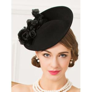 Formal Party Rose Yarn Felt Cocktail Hat -