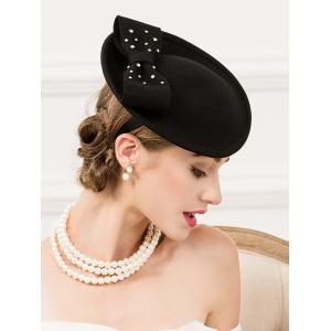 Formal Party Rhinestone Wool Felt Cocktail Hat