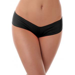 Low Waist Stretchy Panties - Black - S
