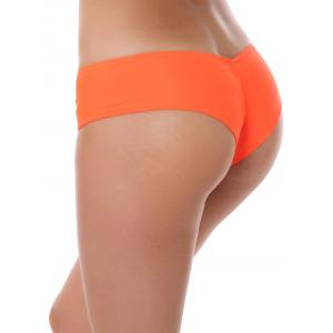 Culotte taille basse extensible - Orange L