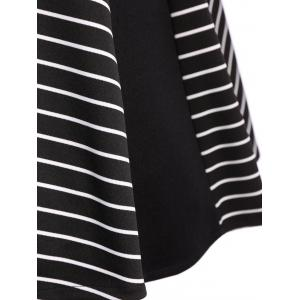 Stripe Buttoned Fit and Flare Dress -