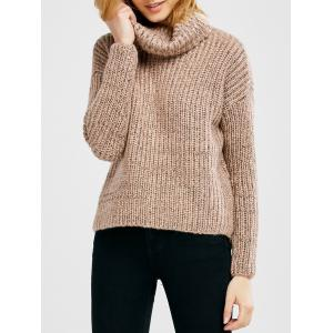 Turtle Neck Heathered Pullover Sweater