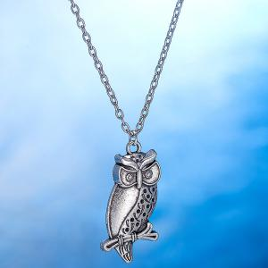 Branch Owl Necklace and Earrings - SILVER