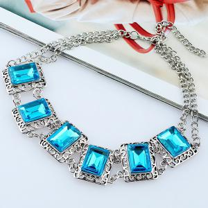 Alloy Fake Gem Necklace -