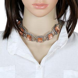 Alloy Fake Gem Necklace