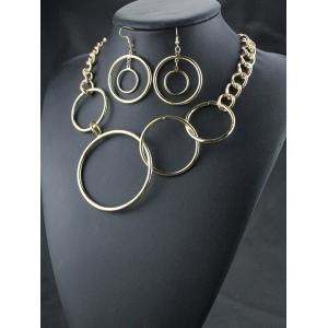 Circles Necklace and Earrings -