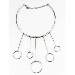 Circles Necklace and Drop Earrings - SILVER