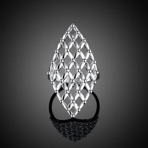Hollow Out Geometric Ring - Silver - 7