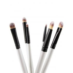 7 Pcs Nylon Eye Makeup Brushes Set - WHITE