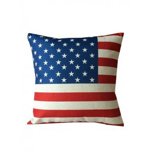 American Flag Printed Backrest Throw Pillowcase - Colormix - W17.5 Inch * L17.5 Inch