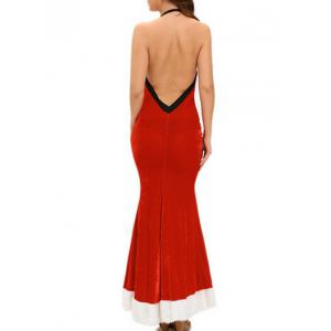 Velvet Mermaid Maxi Christmas Dress -