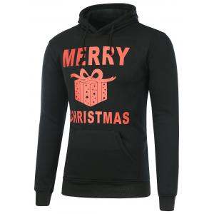 Pocket Gift Box Print Christmas Hoodie