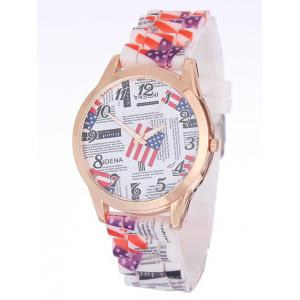 American Flag Printed Silicone Watch