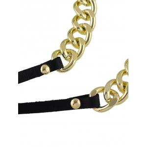 Punk Chain Layered Wrap Necklace - BLACK