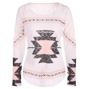 Geometry Drop Shoulder Christmas Tee - Shallow Pink - M