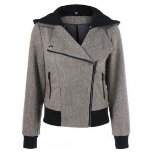Zip Pockets Hooded Jacket -