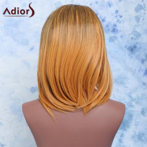 Adiors Short Straight Side Parting Mixed Color Synthetic Hair Wig -