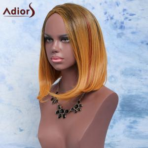Adiors Short Straight Side Parting Mixed Color Synthetic Hair Wig - COLORMIX