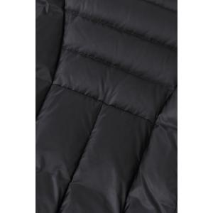 Skirted Hooded Quilted Coat -