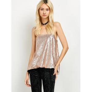 Cami Sequined Loose Tank Top -