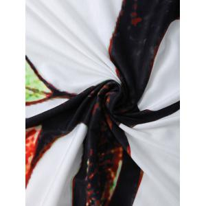 Colorful Tree Off Life Tapestry Beach Throw - WHITE M
